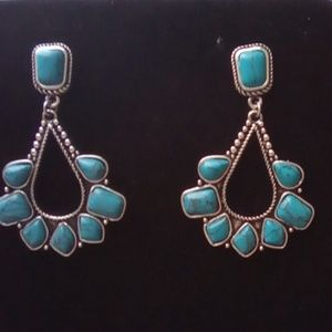 Beautiful Turquoise Boho Fashion Earrings.